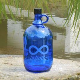 Henkelflasche mit Infinity