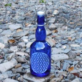 Bügelflasche mit Blume des Lebens V3
