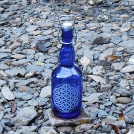 Bügelflasche mit Blume des Lebens V2