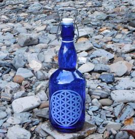 Bügelflasche mit Blume des Lebens V5
