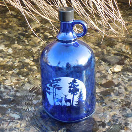 Henkelflasche mit Hirsch und Reh
