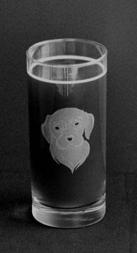 Longdrinkglas Hundeporträt