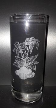 Longdrinkglas Narzisse Ostereiern