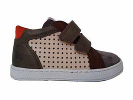 POM D'API Sneaker Velours Beige/Kaki/Orange - OUTLET
