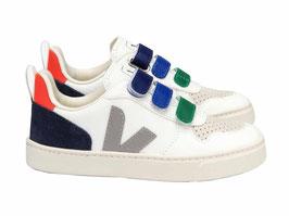 VEJA V-10 Leather white coloured