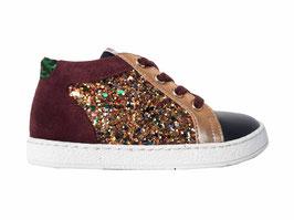 POM D'API sneaker bordeaux goud mini