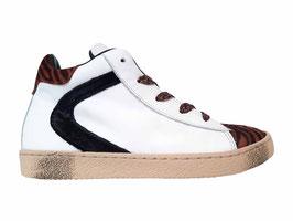 RONDINELLA Sneaker wit cognac zebra