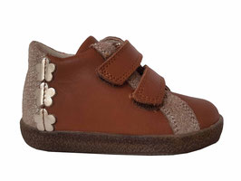FALCOTTO Sneaker cognac Platino Flower - OUTLET