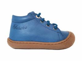 NATURINO veterschoen Cocoon azuur blauw