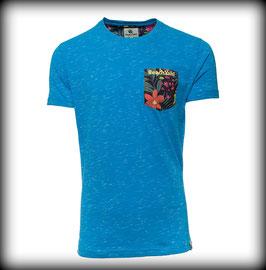 T-Shirt FLOWER POCKET // Royal Blue