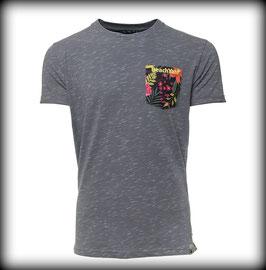 T-Shirt FLOWER POCKET // Light Grey