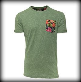 T-Shirt FLOWER POCKET // Army