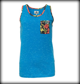 FLOWER TANK // Blue Melange