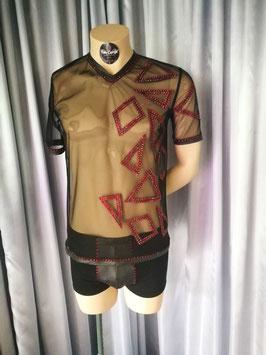"""Netzshirt """"Shiny Red"""" Gr.S"""
