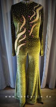 "Stretch Bodysuit   ""Olive Rainbow"" Gr. M"
