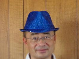 電飾付きキラキラハット(ブルー)