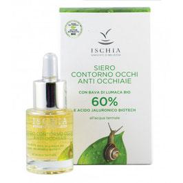 siero contorno occhi anti occhiaie 60% bava di lumaca bio e acido ialuronico biotech Ischia sorgente di bellezza