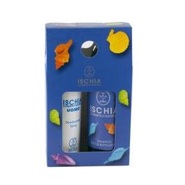 cofanetto regalo shampoo doccia e deodorante da uomo Ischia cosmetici naturali