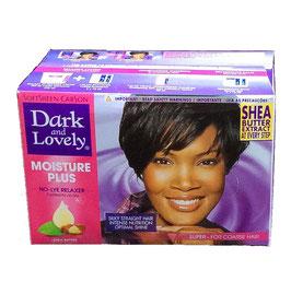 Dark and Lovely  MOISTURE PLUS No-lye Relaxer kit, Super