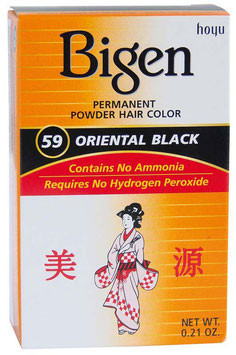 BIGEN PERMANENT POWDER HAIR COLOR ORIENTAL BLACK