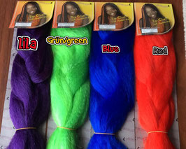 Special colors 100% kanekalon braids