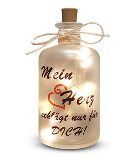 """Flaschenlicht """"Mein Herz"""""""