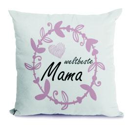 "Kissen ""Weltbeste Mama"""