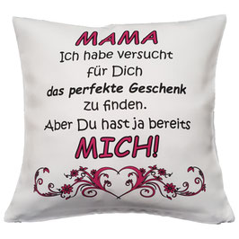 "Kissen ""Mama bestes Geschenk"" 40 x 40 cm"