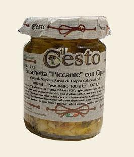 Bruschetta piccante con cipolla rossa - Scharfer Bruschetta-Aufstrich mit roten Zwiebeln aus Tropea