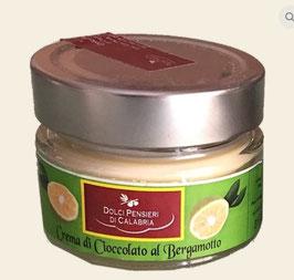 Weiße Schokoladencreme mit Mandeln, Bergamotte oder Pistazien