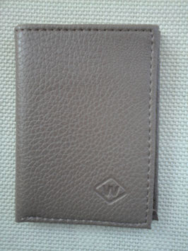 Porte cartes plat en cuir