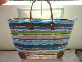 Grand sac de plage multicolore