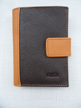 Porte cartes cuir bicolore Fancil