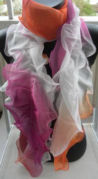 Foulard froufrou multicolore