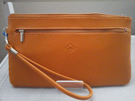 Pochette plate cuir zippée porté mains grand modèle
