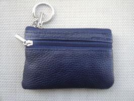 Porte monnaie  plat  cuir 2 poches et compartiment carte