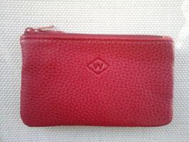 Porte monnaie/clés cuir 2 compartiments zippés
