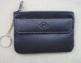 Porte monnaie/clés plat cuir poche devant
