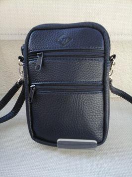 Petite pochette cuir porté épaule, en travers, à la ceinture