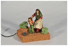 Mujer Peinando Niña  17 Centímetro mv