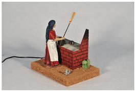 Mujer en Cocina y Ratón en 17 centímetros mv