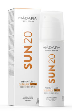 Weightless SUN MILK SPF 20- Body, Hands and Face