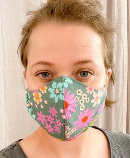 Mund- und Nasenmaske Retro Flower