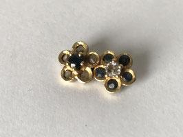 Pendentif marguerites or 18k et diamants  VENDU
