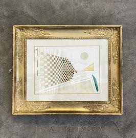Aquarelle géométrique