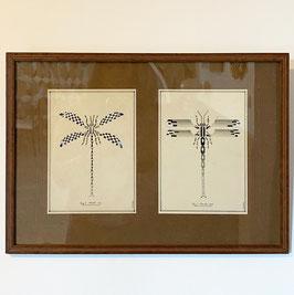 Aquarelle libellules