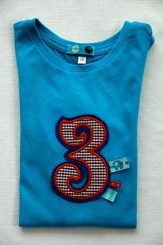 Geburtstags- Shirt 3 hellblau