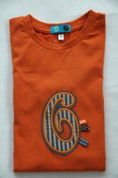 Geburtstags- Shirt 6 orange