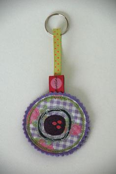 Schlüsselanhänger lila Knäuel