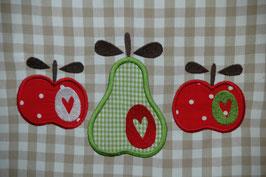Küchentüechli 'Öpfel ond Berre'